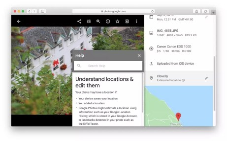 data privacy google location information in photos