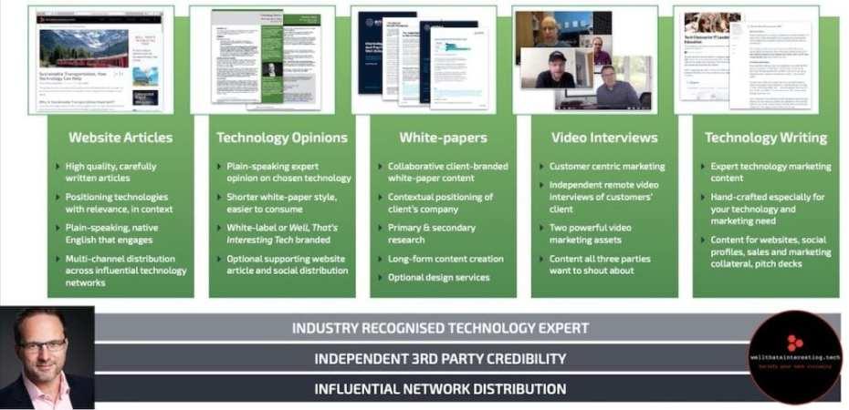 freelance technology writer - third party opinion - 3rd party technology expert - independent technology expert - english technology copywriter
