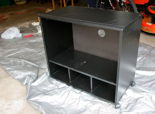 TV stand before painting
