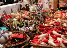 Felted items are big here, including ornaments.