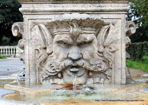 Fountain at the Borghese gardens