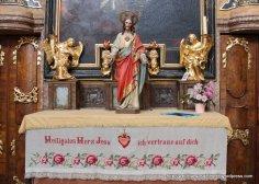 Unusual folk needlework altar covering