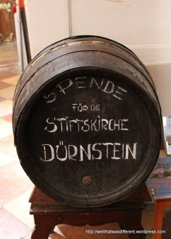 Donations accepted in this wine barrel