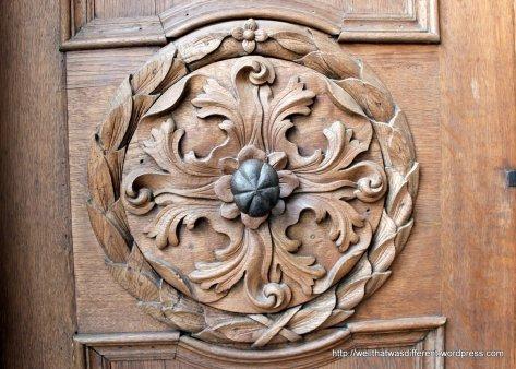 Nicely carved door