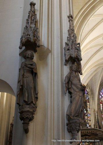 Original medieval statuary