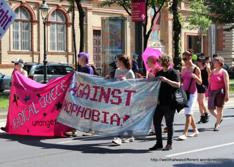 Radical Queers--ironically some of the most conservatively dressed people in the parade.
