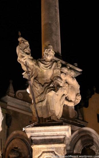 Drama on the plague column.