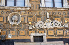 """Building detail with a """"Moor."""""""