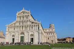 The Duomo next to the tower--which is actually the bell tower of the church.