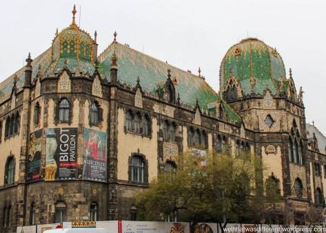 The Secession (Art Nouveau) style Museum of Applied Arts building.