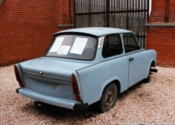 A Trabi. These could still be seen driving around in Prague when we lived there. Now they are a tourist attraction.