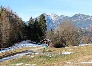 Christmas Day hike through mountain pastures