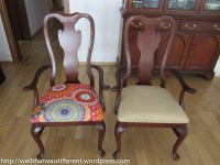 Drexel Chairs: Boring to Boho!  Well, That Was Different