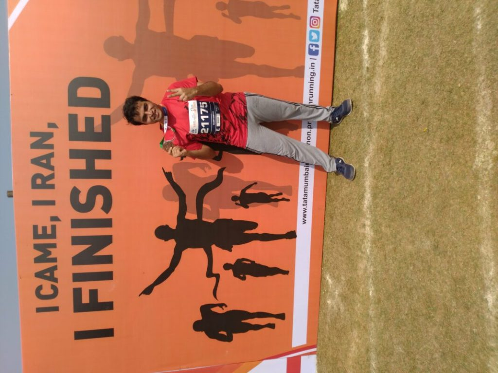 To Sujay, it didn't matter when he started. After a night's ordeal, he was happy enough to be running and actually finishing his first full marathon.