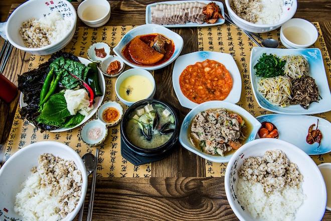 Korean street food stall.