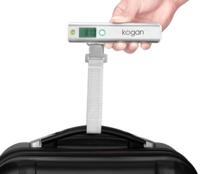 Electric baggage scales.