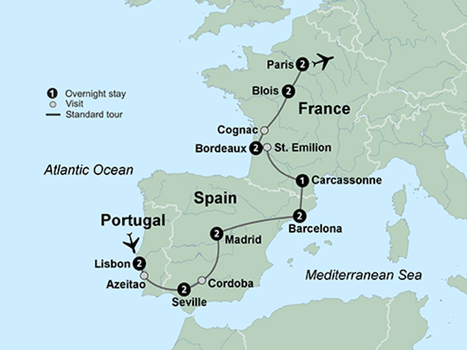 Collette Spain, France and Portugal Tour.