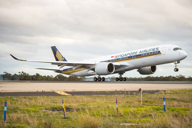 Singapore Airlines A350.