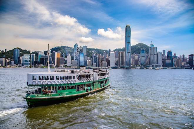 Ferries in Hong Kong Harbour - a fast and convenient way to travel.