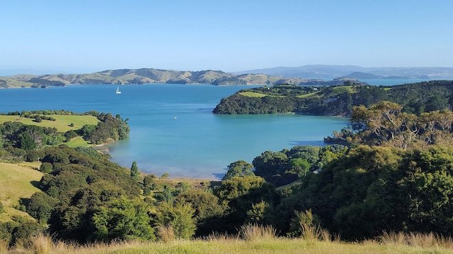 Walking trails around Waiheke Island.