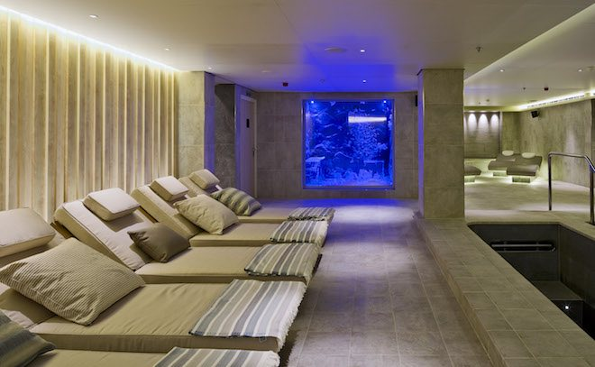 Rest on comfortable chairs on either side of The Spa
