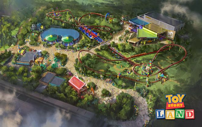 Toy Story Land park map.