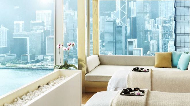 VIP Room at Bliss Spa with city views - Image W Hotel Bliss Spa.