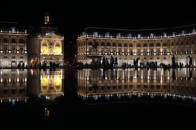 Reflections of Bordeaux city.