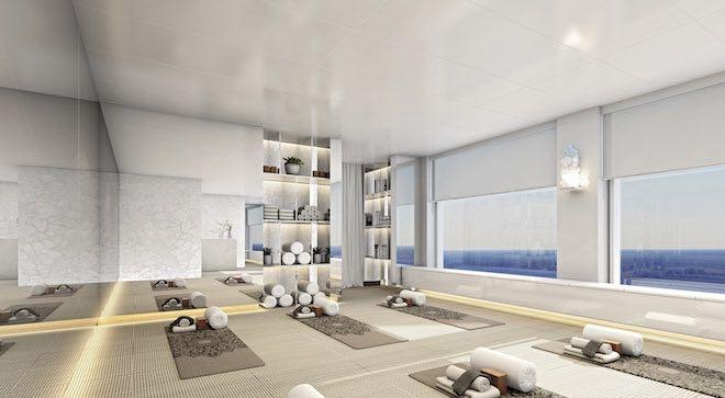 Scenic Eclipse Spa Yoga Room.