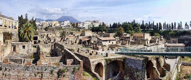 City of Herculaneum on the Bay of Naples.