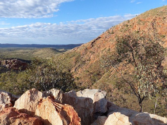 The Australian outback from Standley Chasm.