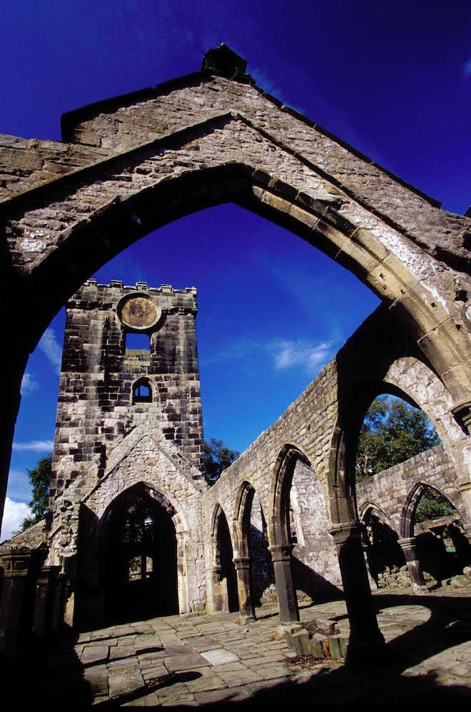 RUINS OF THE CHURCH OF ST THOMAS A_ BECKET IN THE VILLAGE OF HEPTONSTALL NEAR HEBDEN BRIDGE- IMAGE CREDIT ANDREW MARSHALL