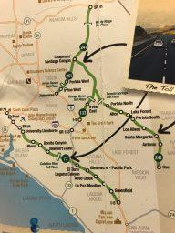 Rental car information for LA