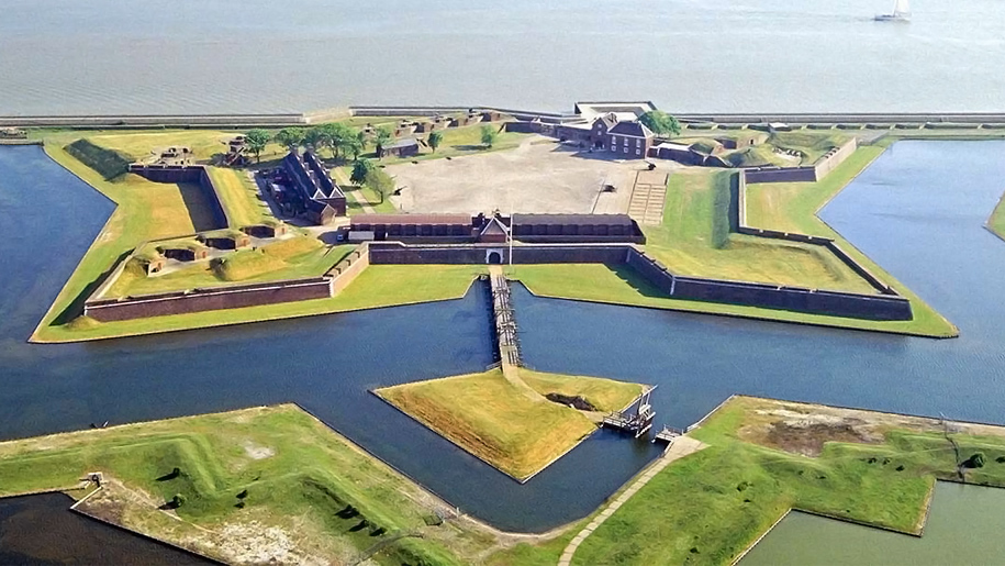 Ariel view of Tilbury Fort