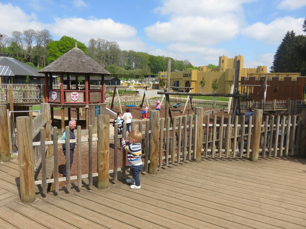 Squires' Playground with Knights' Stronghold in the background at Leeds Castle in Kent