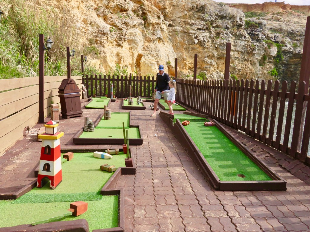 Mini golf Popeye Village in Malta
