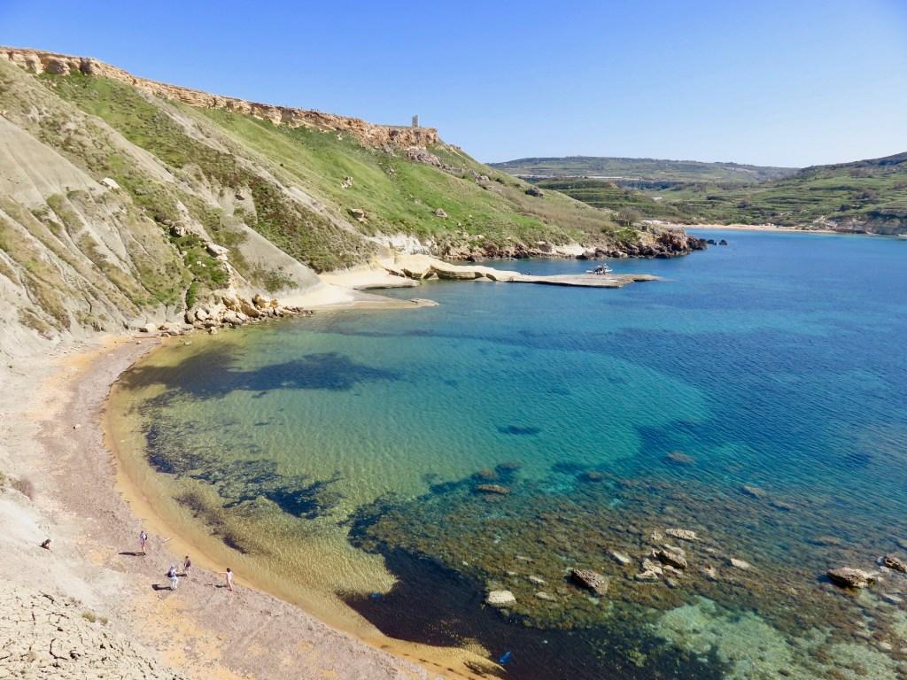 Għajn Tuffieħa view point overlooking Ġnejna Bay