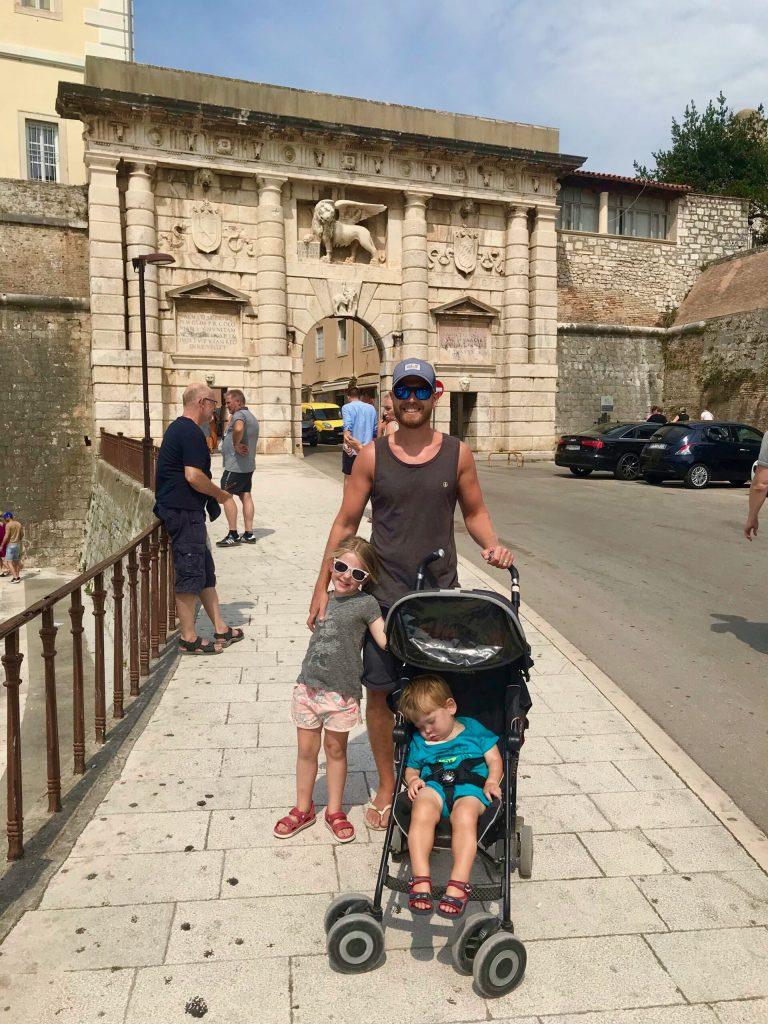 Land Gate Zadar with kids