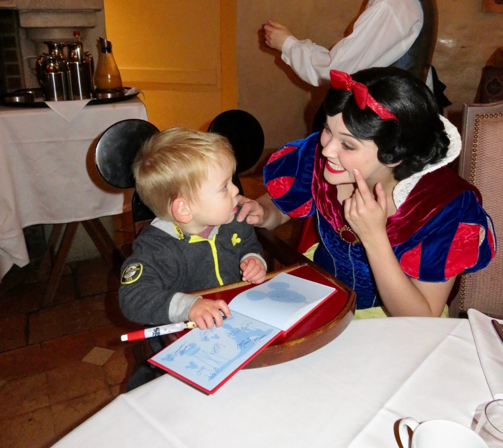 Snow White at the Princess Breakfast