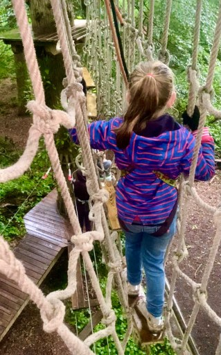 Go Ape with kids at Leeds Castle in Kent