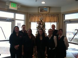 Christmas staff at The Wellwood Restaurant MD