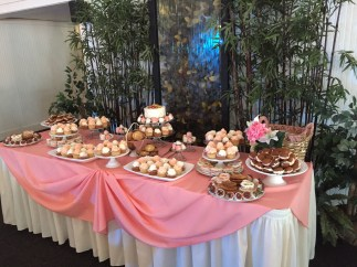 pink cake table ideas wellwood wedding maryland delaware