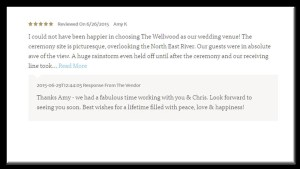 venue testimonial Wellwood Pavillion