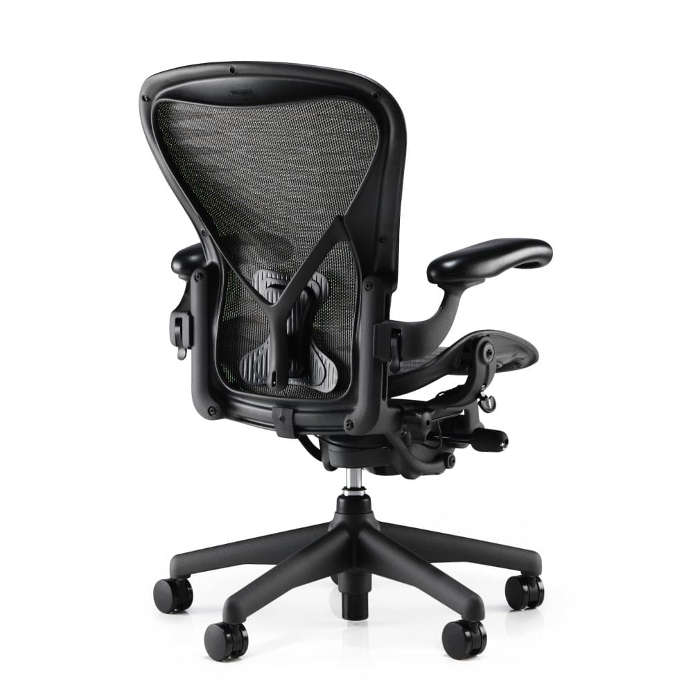 Herman Miller Office Chair Herman Miller Aeron Chair Classic Tuxedo Grey Black Size C Clearance Chair