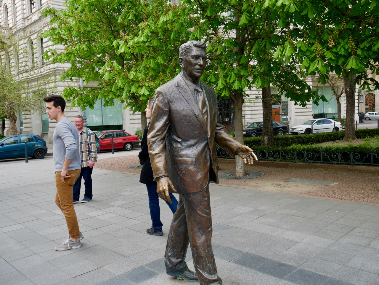 What is Ronald Reagan doing in Budapest?