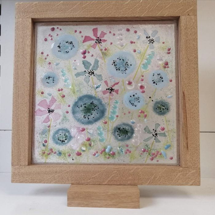 Fused glass flowers picture