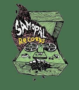 samopal label logo