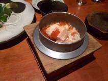 Kamameshi - a rice dish cooked in an iron pot