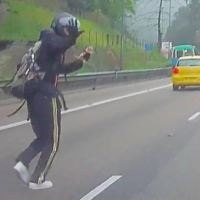 Man Stops Traffic on Busy HIghway to Save a Tiny Kitten
