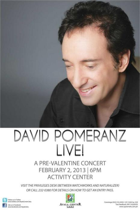 David Pomeranz Live in Cebu Pre-Valentine Concert in Ayala Center 2013